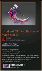Inscribed Offhand Basher of Mage Skulls (Immortal Anti-Mage)
