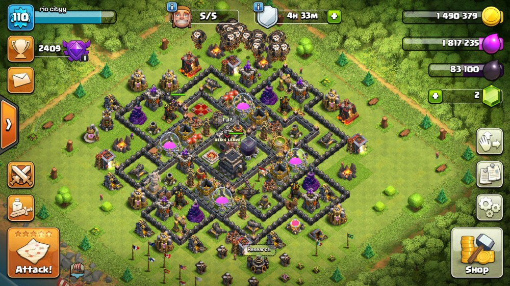 Jual Akun Coc Th 9 Max Tinggal Upgrade Th Dan Wall Dari Traroyalegaming Itemku