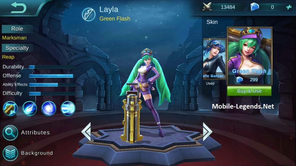 Jual Green Flash Skin Layla Mobile Legends Dari Pasiangi Shope Itemku