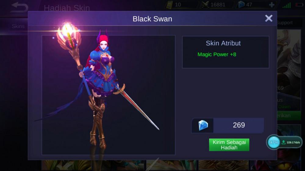 Jual Black Swan (Skin Odette) Mobile Legends dari GatutIP