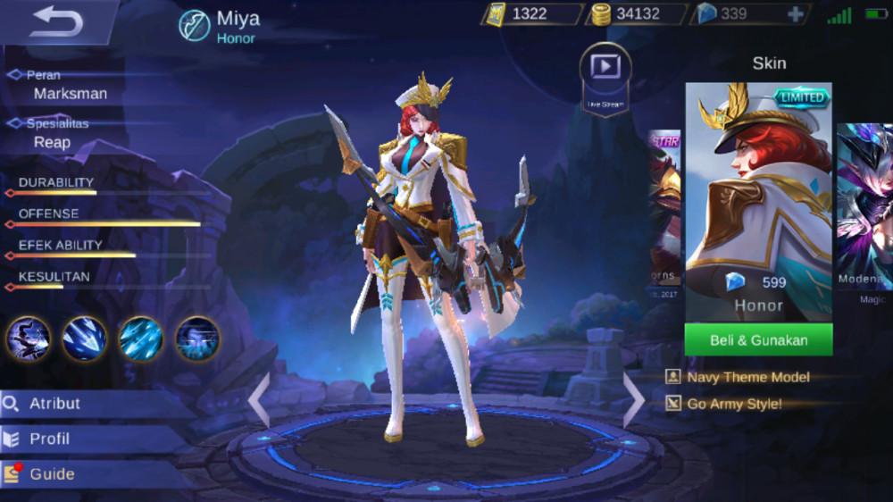 Jual Honor Special Skin Miya Mobile Legends Dari Skin Shop Itemku