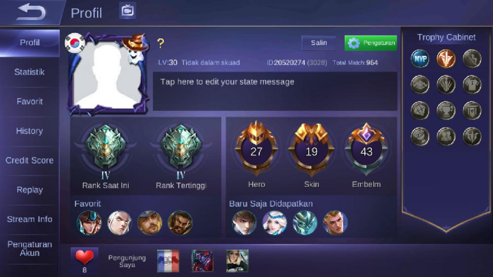 Jual Akun Epic Hero 27 Skin 19 dari IndoGaming | itemku
