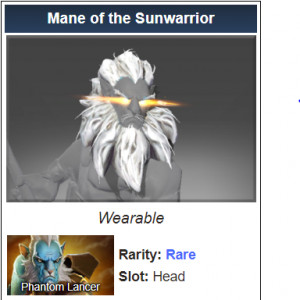 Mane of the Sunwarrior (Phantom Lancer)