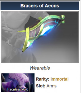 Bracers of Aeons (Immortal TI7 Faceless Void)