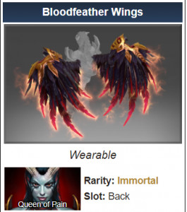 Genuine Bloodfeather Wings (Immortal Queen of Pain)