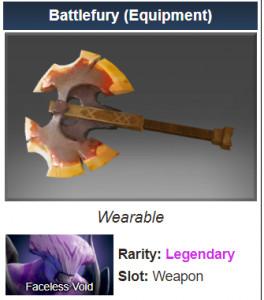 Battlefury (Faceless Void)