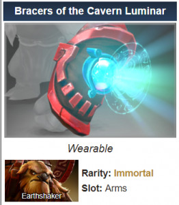 Bracers of the Cavern Luminar (Immortal Earthshaker)