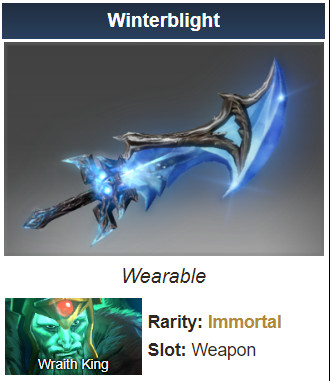 Genuine Winterblight (Immortal Wraith King)