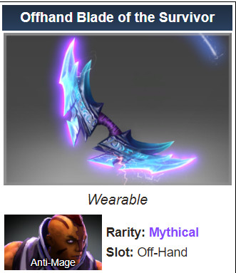 Offhand Blade of the Survivor (Anti Mage)