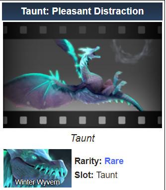 Taunt: Pleasant Distraction (Winter Wyvern Taunt)