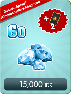 Top Up 60 Diamonds Weekly Special Offers