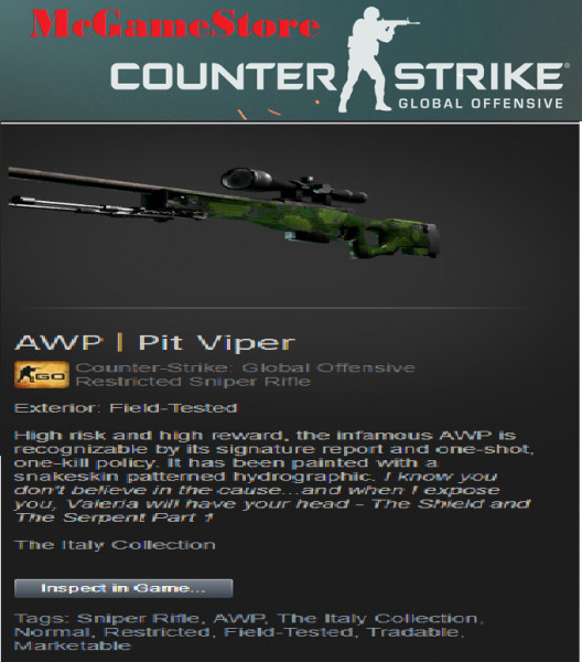 AWP | Pit Viper (Restricted Sniper Rifle)