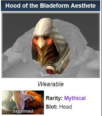 Hood of the Bladeform Aesthete (Juggernaut)
