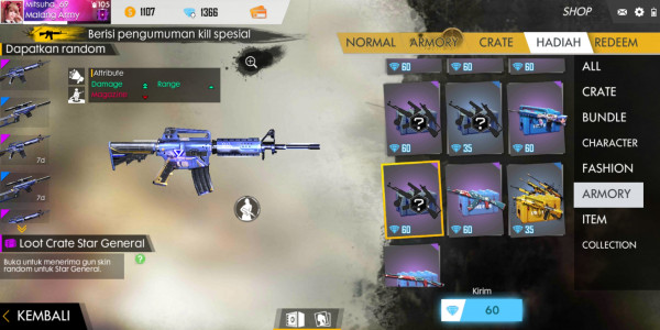 Loot crate M4A1 Star General
