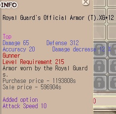 Royal Guard's Offcial Armor (T).XG+12 (B).XG+12