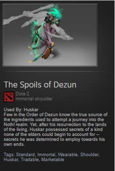 The Spoils of Dezun (Immortal Huskar)