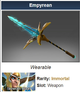 Empyrean (Immortal Skywrath Mage)
