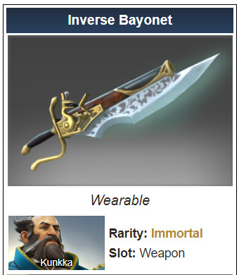 Inscribed Inverse Bayonet (Immortal Kunkka)