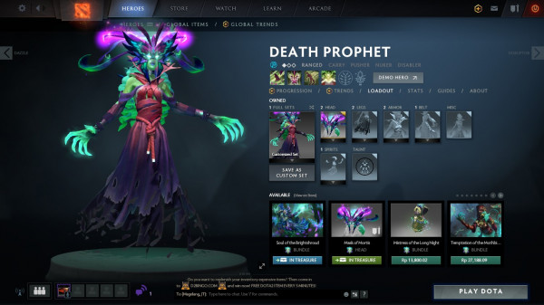 Mask of Mortis (Death Prophet TI9 IMMORTAL