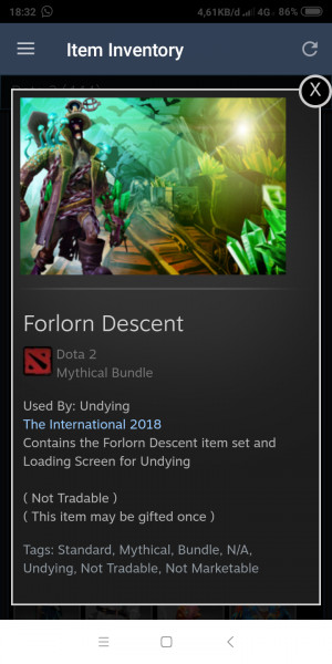 Forlorn Descent (CC TI8 Undying Set)
