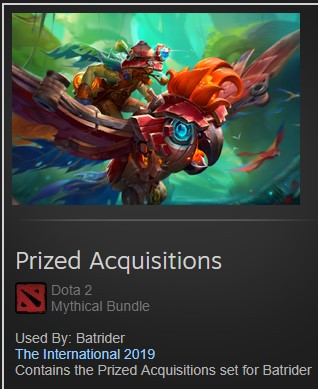 Prized Acquisitions (Batrider TI9)