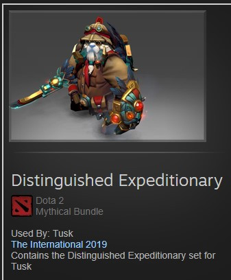 Distinguished Expeditionary (Cache TI9 Tusk Set)