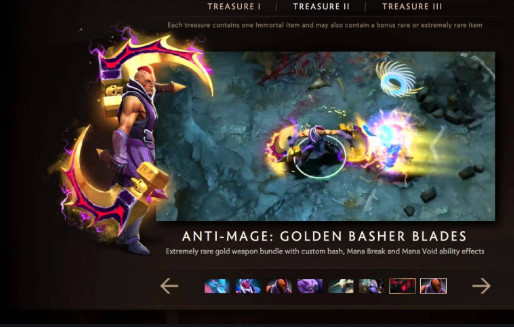 Golden Basher Blades (Immortal Anti-Mage)