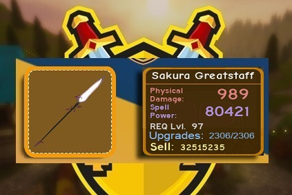 Sakura GreatStaff [MAX Upgrade] 80K