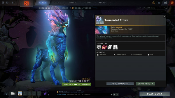 Tormented Crown (Immortal TI9 Leshrac)