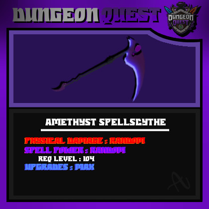 Dungeon Quest | Amethyst Spell (Purple MAX)