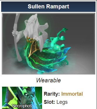 Sullen Rampart (Immortal TI9 Necrophos)