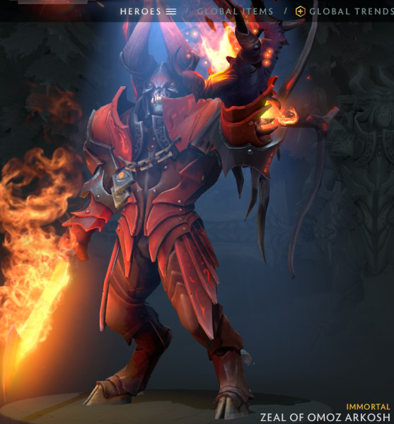 Zeal of Omoz Arkosh (Immortal TI8 Doom)