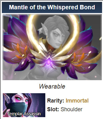 Mantle of the Whispered Bond (Imo Templar Assassin