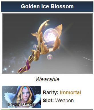 Golden Ice Blossom (Immortal Crystal Maiden)