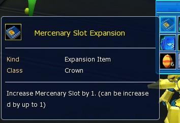 Mercenary Slot Expansion