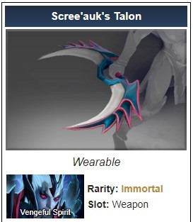 Scree'auk's Talon (Immortal Vengeful Spirit)