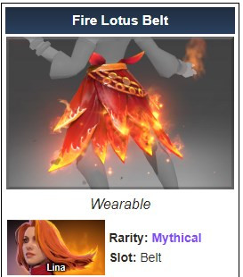 Genuine Fire Lotus Belt