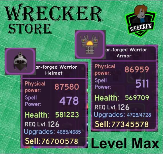 1 Set War-Forged Warrior (Max)   Dungeon Quest