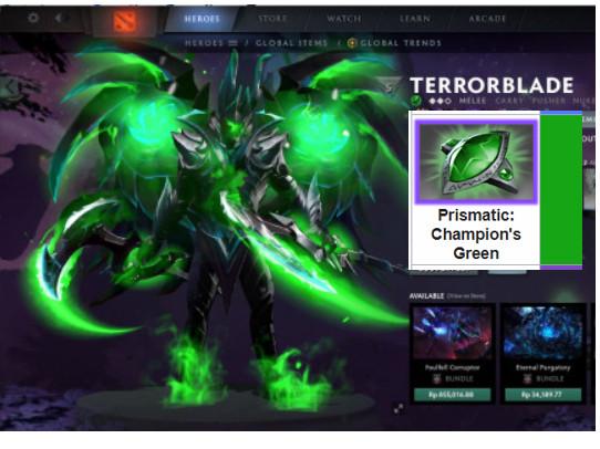 Fractal Horns of Inner Abysm (Terrorblade) GREEN