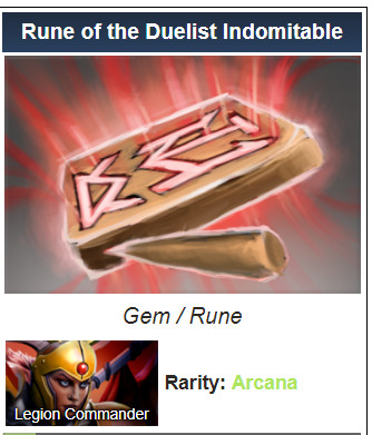 Rune of the Duelist Indomitable (Legion Commander)