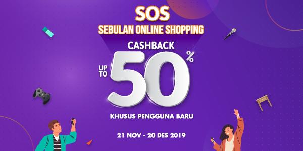 Promo OVO SOS November 2019: Cashback 50% Semua Game!