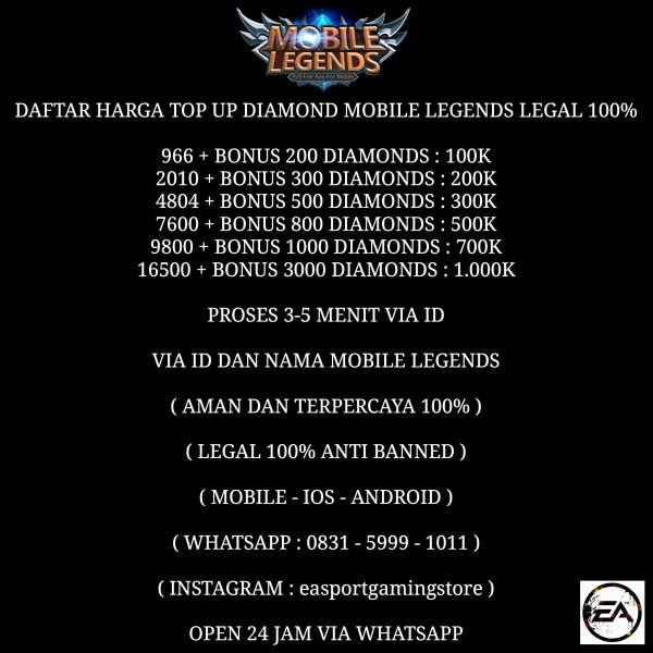 Jual 7600 800 Diamond Mobile Legends Dari Homepage Shop Itemku