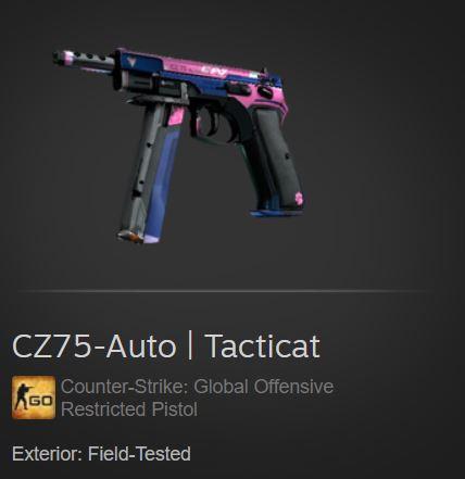 CZ75-Auto | Tacticat (Restricted Pistol)