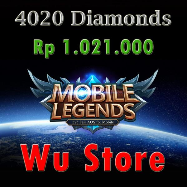 Top Up 4020 Diamonds