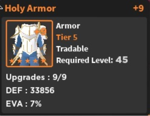 Holy Armor - World Zero