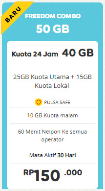 Freedom 50 GB 30 Hari