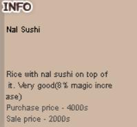 Nal Sushi Buff Item Ransum