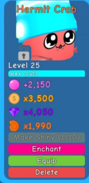 Hermit crab   bubble gum simulator