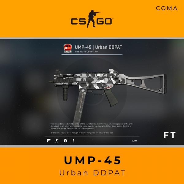 UMP-45 | Urban DDPAT (Field-Tested)