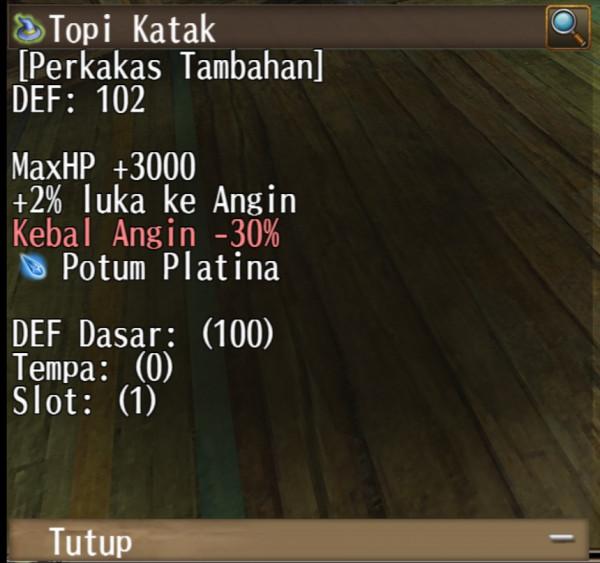 TOPI KATAK +3000 HP